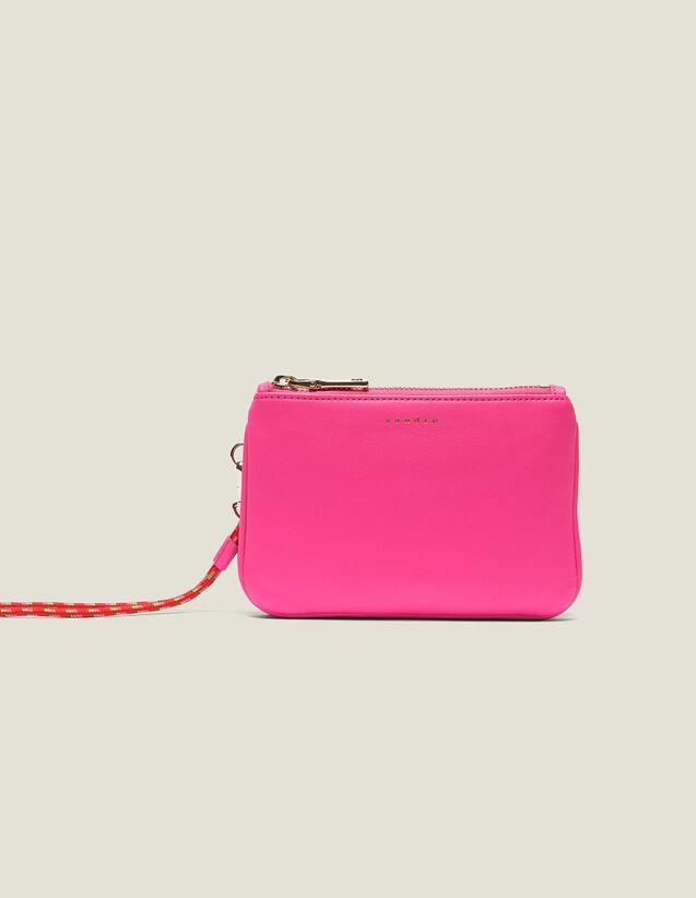 산드로 동전 지갑 Sandro Addict Mini-Pochette Mit Trageschlaufe SA1408E - Neon-Rosa