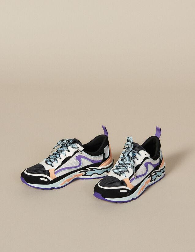 산드로 어글리슈즈 Sandro Flame Sneaker SFACH00214 Ciel