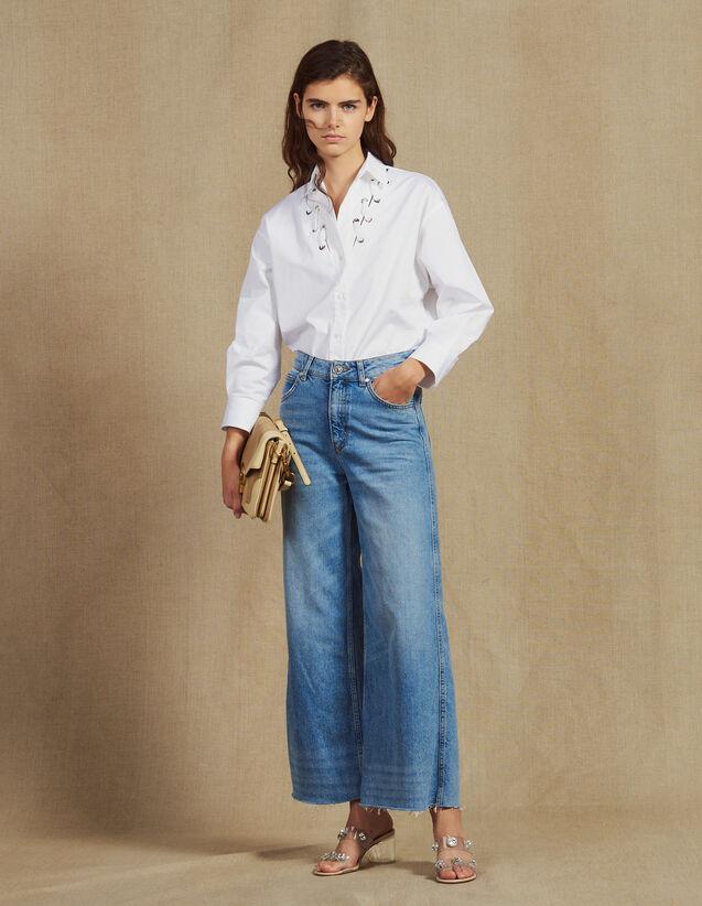 산드로 청바지 Sandro Weite Jeans P6542E - Jeans, Blue Vintage - Denim