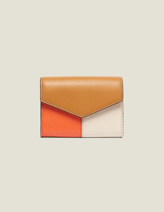 산드로 반지갑 Sandro Brieftasche, Lou Modell SA983E - Camel/Ecru/Orange