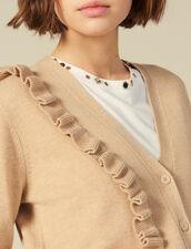 Cardigan Mit Asymmetrischem Volant : FBlackFriday-FR-FSelection-Pulls&Cardigans farbe Camel