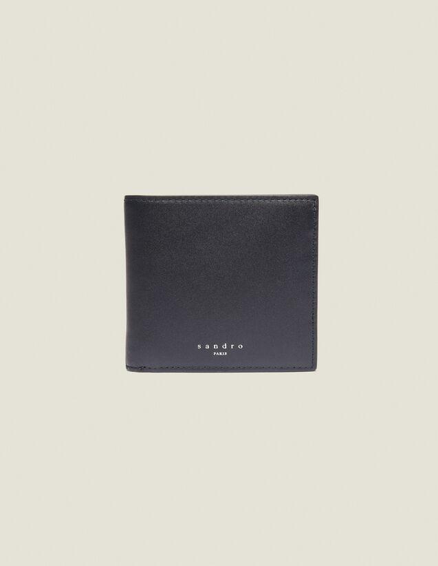 Überschlag-Brieftasche Aus Glattleder : Sommerkollektion farbe Schwarz