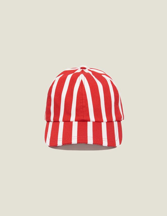Kappe Mit Kontraststreifen : Kappen farbe Rot