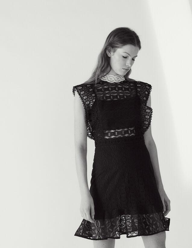 Spitzenkleid Mit Transparenten Details : Kleider farbe Schwarz
