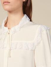Hemdbluse mit Spitzenverzierung : FBlackFriday-FR-FSelection-Tops&Chemises farbe Ecru
