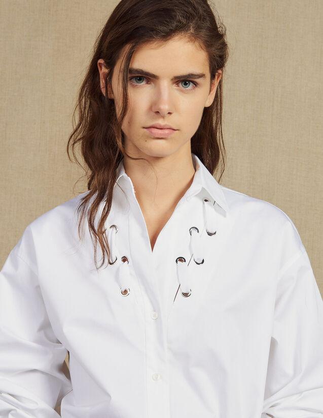 Hemdbluse Mit Ösenverzierung : Tops & Hemden farbe Weiß