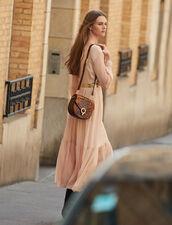 Langes Plisseekleid mit langen Ärmeln : LastChance-ES-F50 farbe Hautfarbe