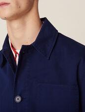Workwear-Jacke Aus Baumwolle Waschung : Sélection Last Chance farbe Blau