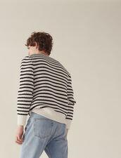 Matrosen-Pullover Mit Schicken Rippungen : Sélection Last Chance farbe Ecru