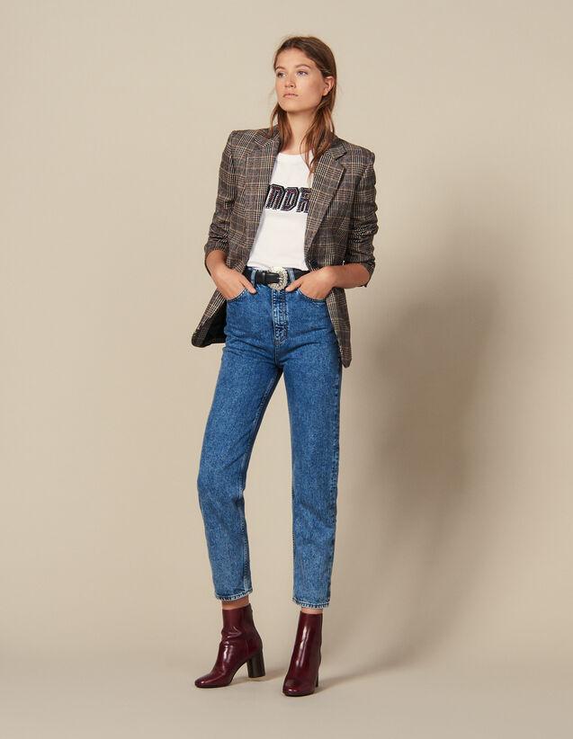 Neige verwaschene Jeans : Jeans farbe Bleu jean