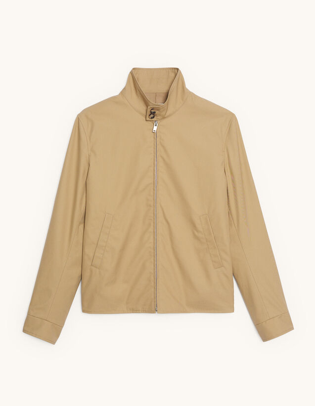 Reißverschluss-Blouson aus Baumwolle : Blousons & Jacken farbe Beige