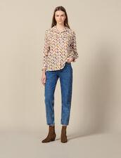 Bedruckte Hemdbluse Mit Volants : Tops & Hemden farbe Ecru