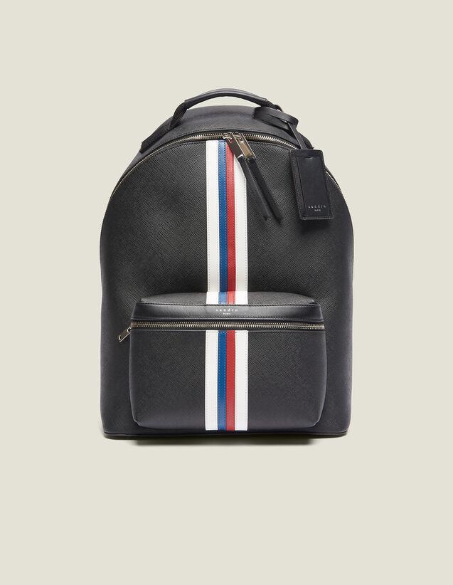 Rucksack Aus Saffiano-Leder : Rucksäcke farbe Schwarz
