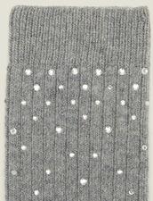 Strümpfe mit Strassverzierung : Socken farbe Dunkelgrau