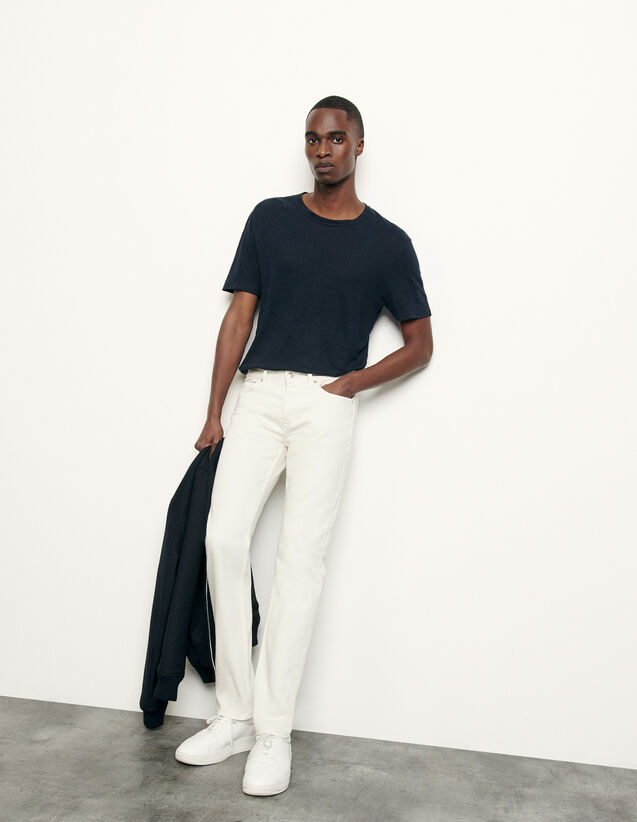 Slim-Fit-Jeans aus Baumwolle : Winterkollektion farbe Weiß
