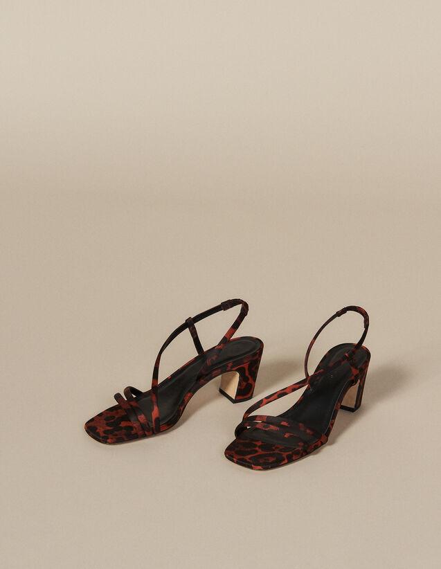 Stoffsandalen mit Leoparden-Print : FBlackFriday-FR-Selection-Chaussures farbe Leopard orange