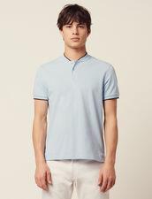Poloshirt Mit Kragendetail : Sélection Last Chance farbe Sky Blue