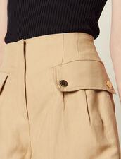 Kurze Shorts Mit Volants : null farbe Beige