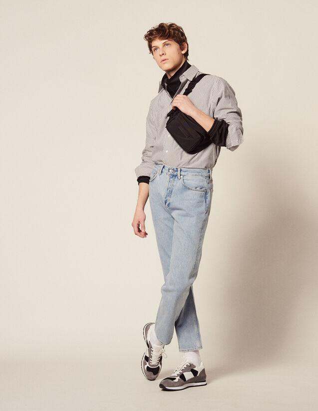 Formelles Hemd Aus Gestreifter Baumwolle : Hemden farbe Weiss/Blau