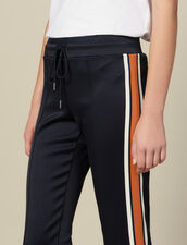Jersey-Jogginghose Mit Streifen : Hosen farbe Marine