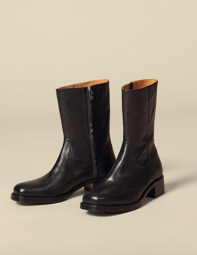 Camargue-Stiefel : Schuhe farbe Schwarz