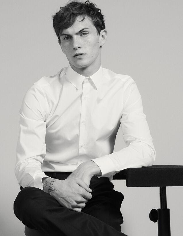 Baumwollhemd : Hemden farbe Weiß