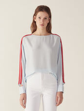 Top Mit Grafikborte : Bedrucktes Hemd farbe Sky Blue