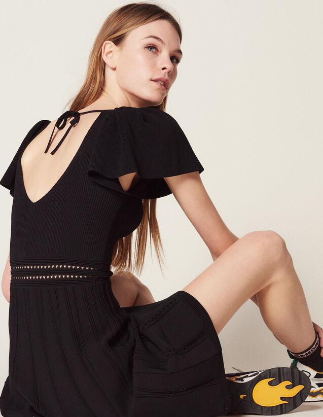 Kurzes Strickkleid : Kleider farbe Schwarz