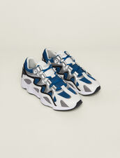 Material Mix Sneakers : SOLDES-CH-HSelection-PAP&ACCESS-2DEM farbe Blau