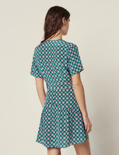 Kurzes Kleid Aus Seide Mit Print : null farbe Grün
