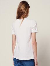 T-Shirt Im Materialmix Zum Binden : null farbe Ecru
