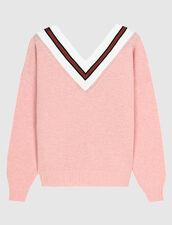 Pullover Mit Kontraststreifen : LastChance-ES-F30 farbe Rosa