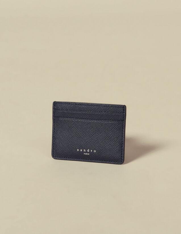 Kartenetui aus Leder : Kartenhalter & Brieftaschen farbe Marine