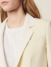 Blazer Mit Kontrast-Kragen : null farbe Ecru