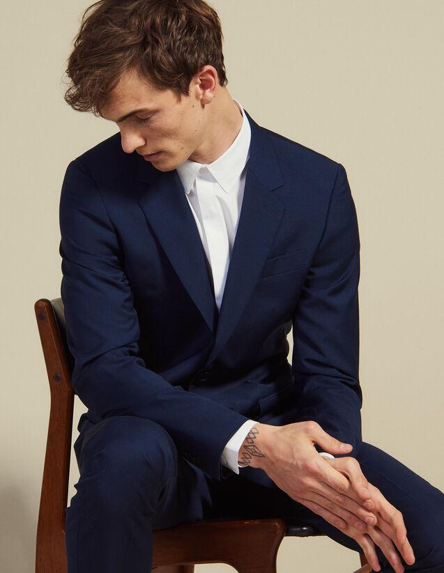 Anzugsakko Aus Mohair-Wolle : Anzüge & Smokings farbe Blau
