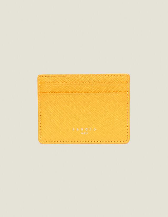 Kartenetui Aus Leder : Sommerkollektion farbe Orange
