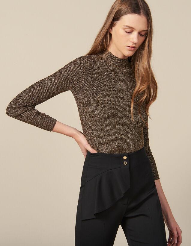 Gerippter Pullover Aus Lurex-Strick : Pullover & Cardigans farbe Gold