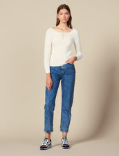 Pullover Mit Geschnürtem Ausschnitt : New In farbe Weiß