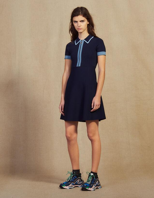 Polo-Strickkleid : Kleider farbe Marine