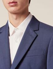 Anzugsakko Aus Wolle : Anzüge & Smokings farbe Blaugrau