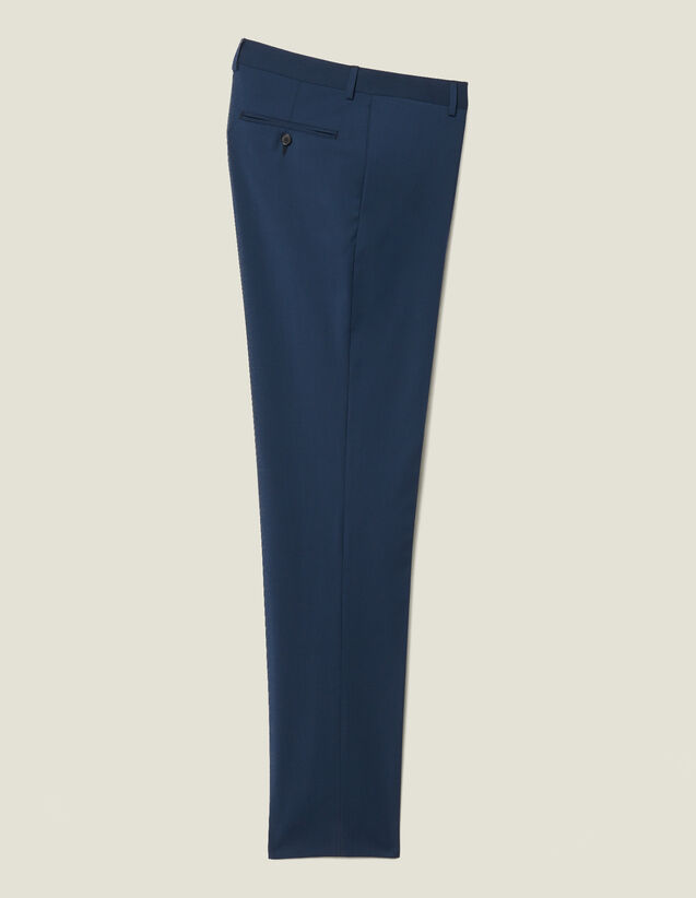 Klassische Super 110 Anzughose : Neue Kollektion farbe Pétrole