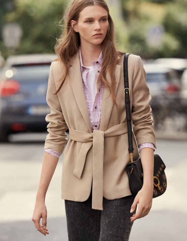 Lange Wolljacke Mit Gürtel : Mäntel farbe Beige