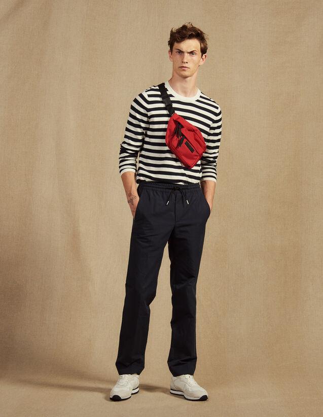 City-Hose Aus Baumwolle Und Leinen : Hosen & Shorts farbe Marine