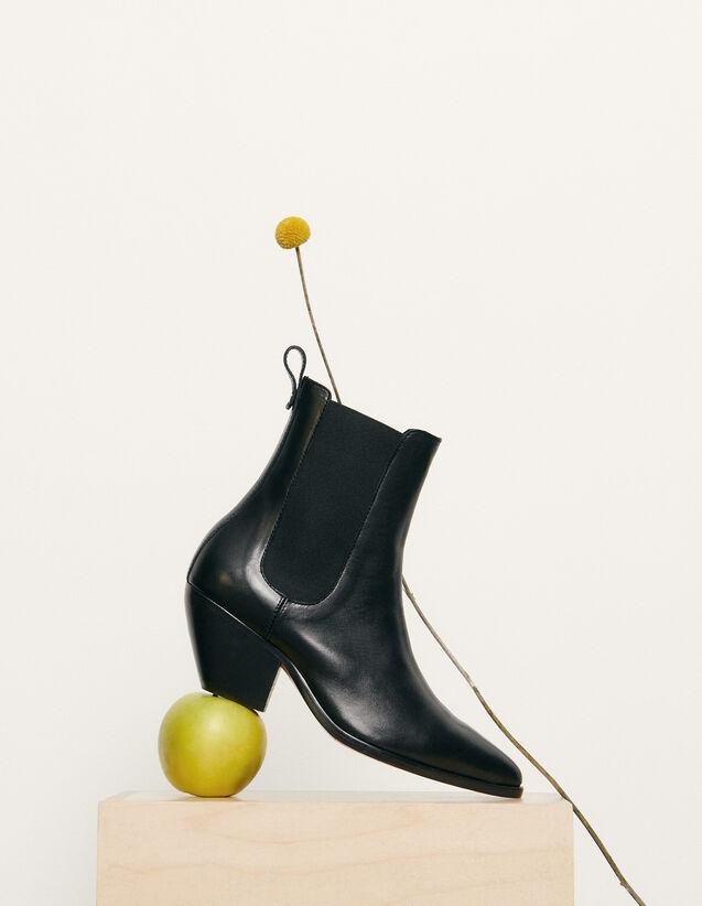 Boots im Santiag-Stil mit Gummieinsatz : Schuhe farbe Schwarz