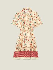 Bedrucktes Hemdkleid, Öffnung Am Rücken : null farbe Bunt