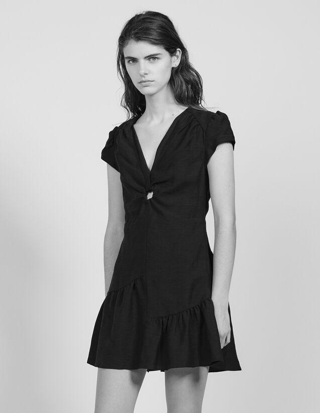 Kurzes Kleid Mit Tiefem Ausschnitt : Kleider farbe Schwarz
