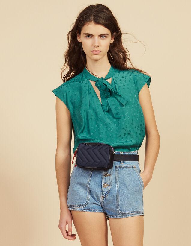 Ärmelloses Top Mit Krawattenkragen : Tops & Hemden farbe Grün