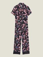 Jumpsuit Mit Blumenprint : null farbe Schwarz