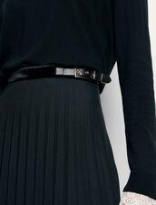 Langer Plissee-Wickelrock : Röcke & Shorts farbe Schwarz
