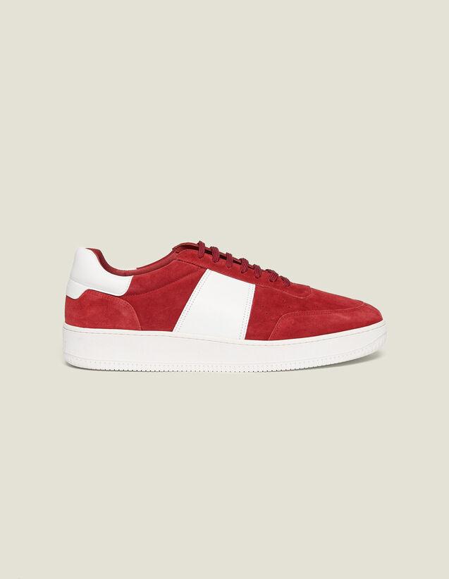 Sneaker Aus Leder : Schuhe farbe Rot